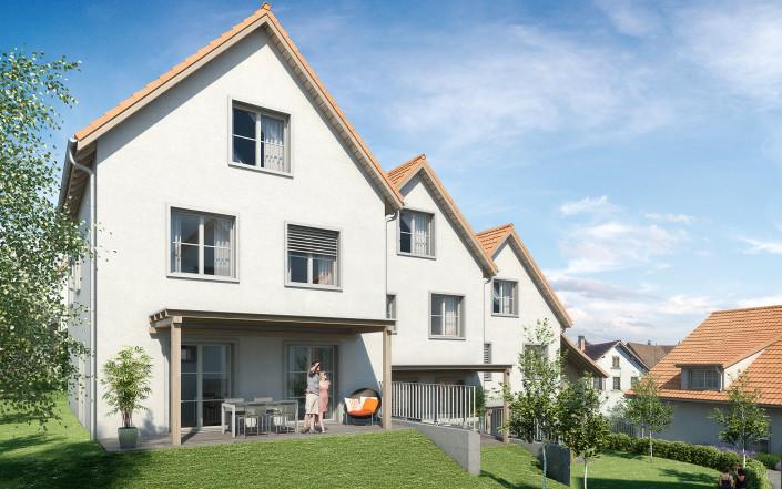 Projekt SchauenBergBlick Häuser 7c, 7b und 7a