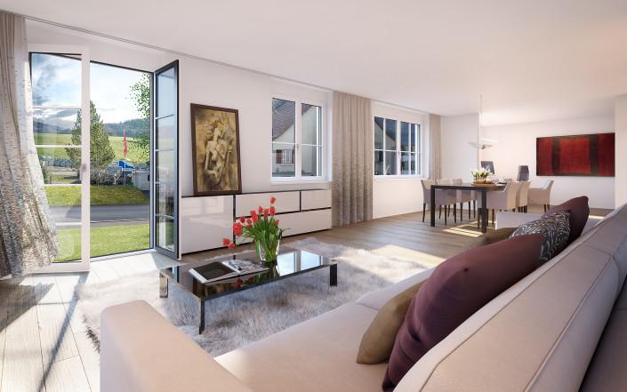 Projekt SchauenBergBlick Mehrfamilienhaus A Wohnung A2