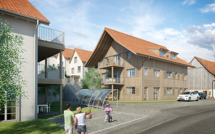 Projekt SchauenBergBlick Mehrfamilienhaus B