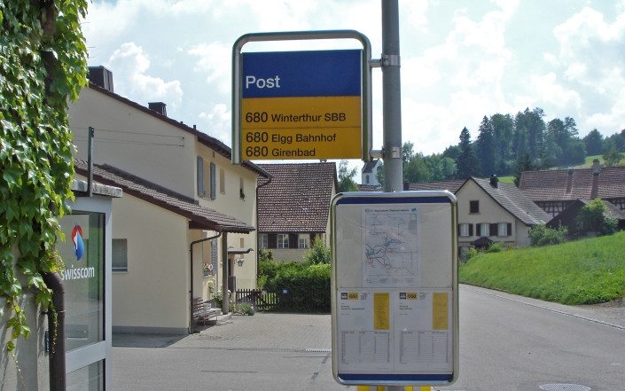 Bushaltestelle Post in Schlatt