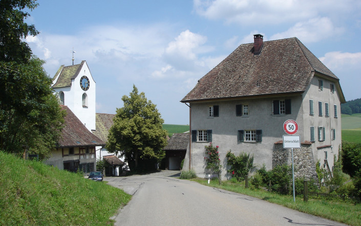 Dorfeingang Unterschaltt