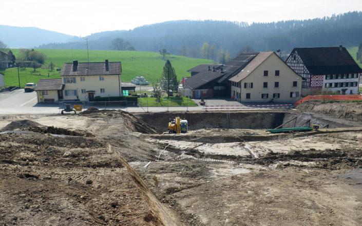 «Schauenbergblick» Schlatt, Bauarbeiten im April 2017