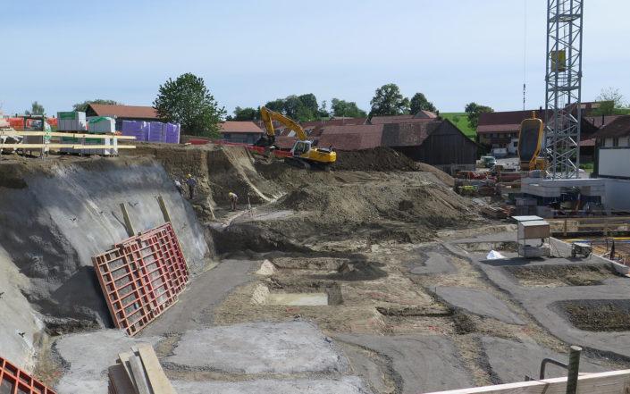 «Schauenbergblick» Schlatt, Bauarbeiten im Juni 2017