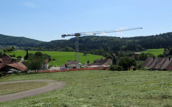 «Schauenbergblick» Schlatt, Bauarbeiten im August 2017