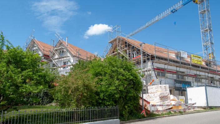 Haus A EFH 5a und 5b Baustelle Mai 2018