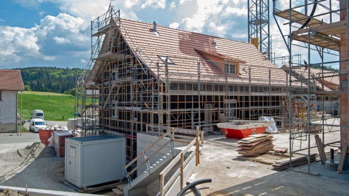 Haus B Rückseite Baustelle Mai 2018