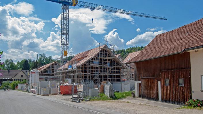 Übersicht Baustelle von Strasse Mai 2018